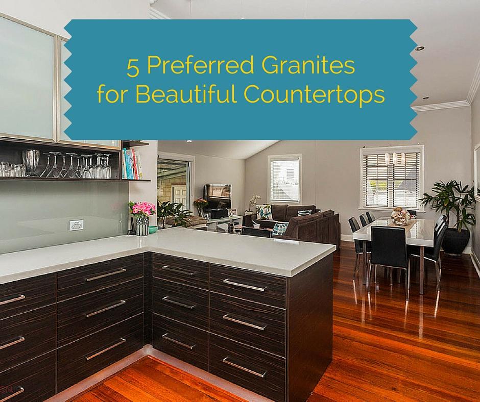 """ALT: """"5 preferred granites for beautiful countertops"""""""