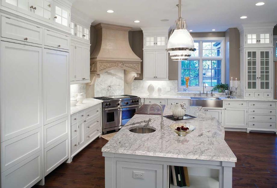 Kitchen Countertop Materials: River White Granite