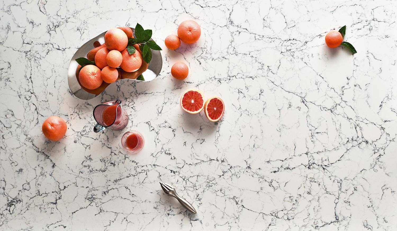 Modern Kitchen Countertop Materials White Attica Quartz by Caesarstone