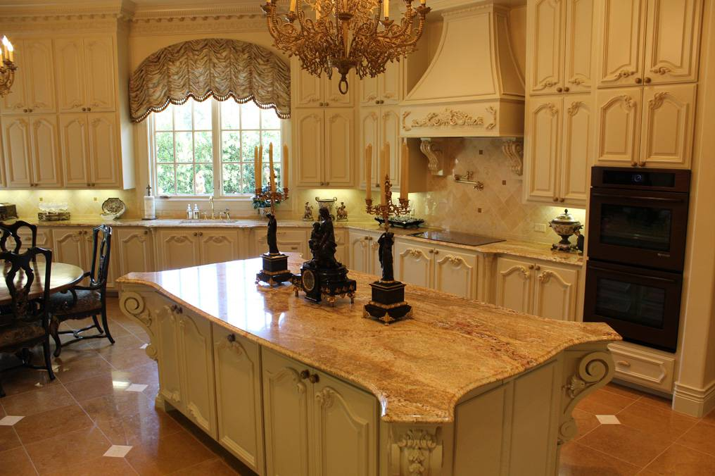 typhoon bordeaux granite � nature�s piece of art in a kitchen