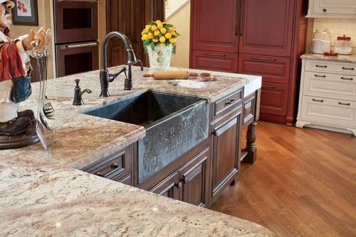 Typhoon bordeaux granite nature s piece of art in a kitchen - Authentic concepts kitchen bath design ...