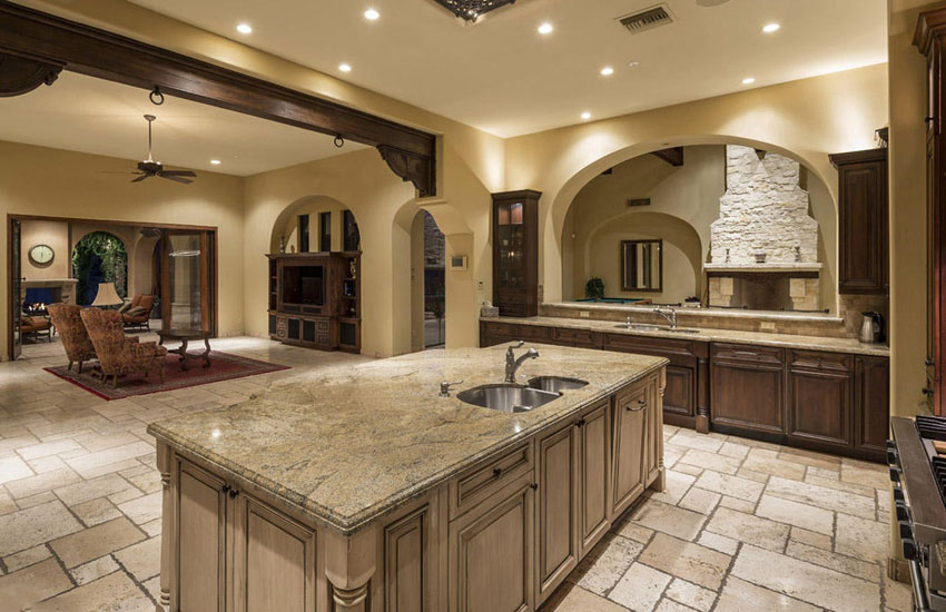 Typhoon Bordeaux granite – Nature's Piece of Art in a Kitchen