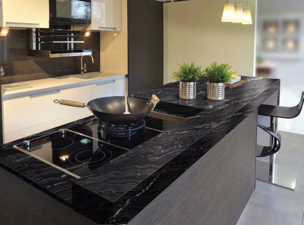 Black Granite Countertops - a Daring Touch of Sophistication to the Kitchen