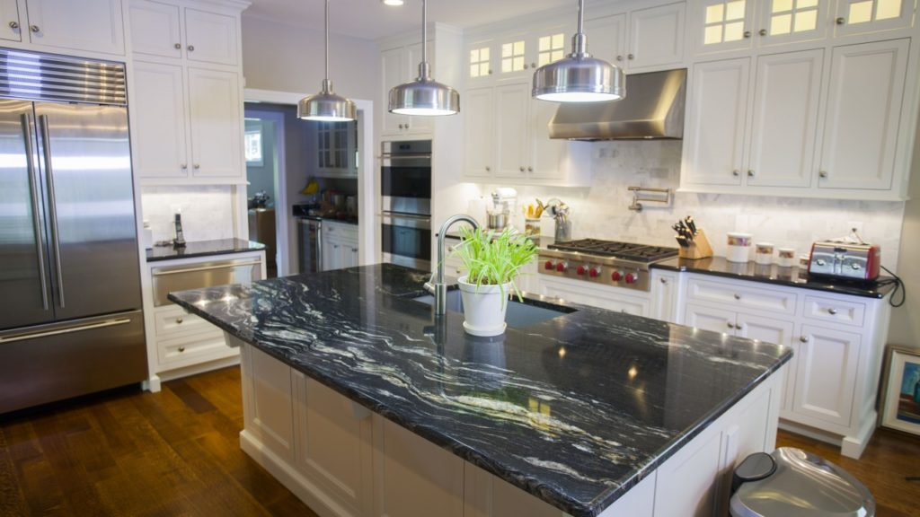 Black Granite Countertops - a Daring Touch of Sophistication to the Kitchen | Aqua Kitchen & Bath Design Center