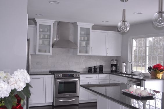 Steel Gray Granite Countertop Granite Countertop Installation in Woodridge, NJ