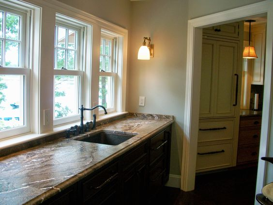 Rainforest Brown Granite Countertop Installation In Englewood Nj