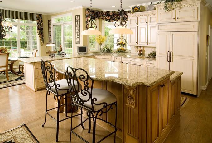 Giallo Ornamental Granite for Warm & Elegant Kitchen Gesign