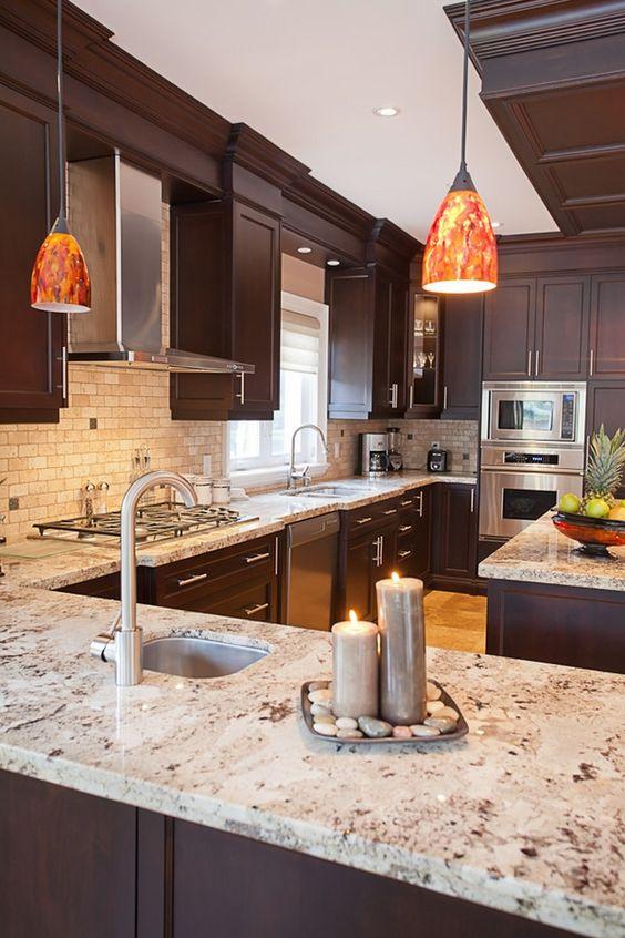 Giallo Ornamental Granite for Warm & Elegant Kitchen Design