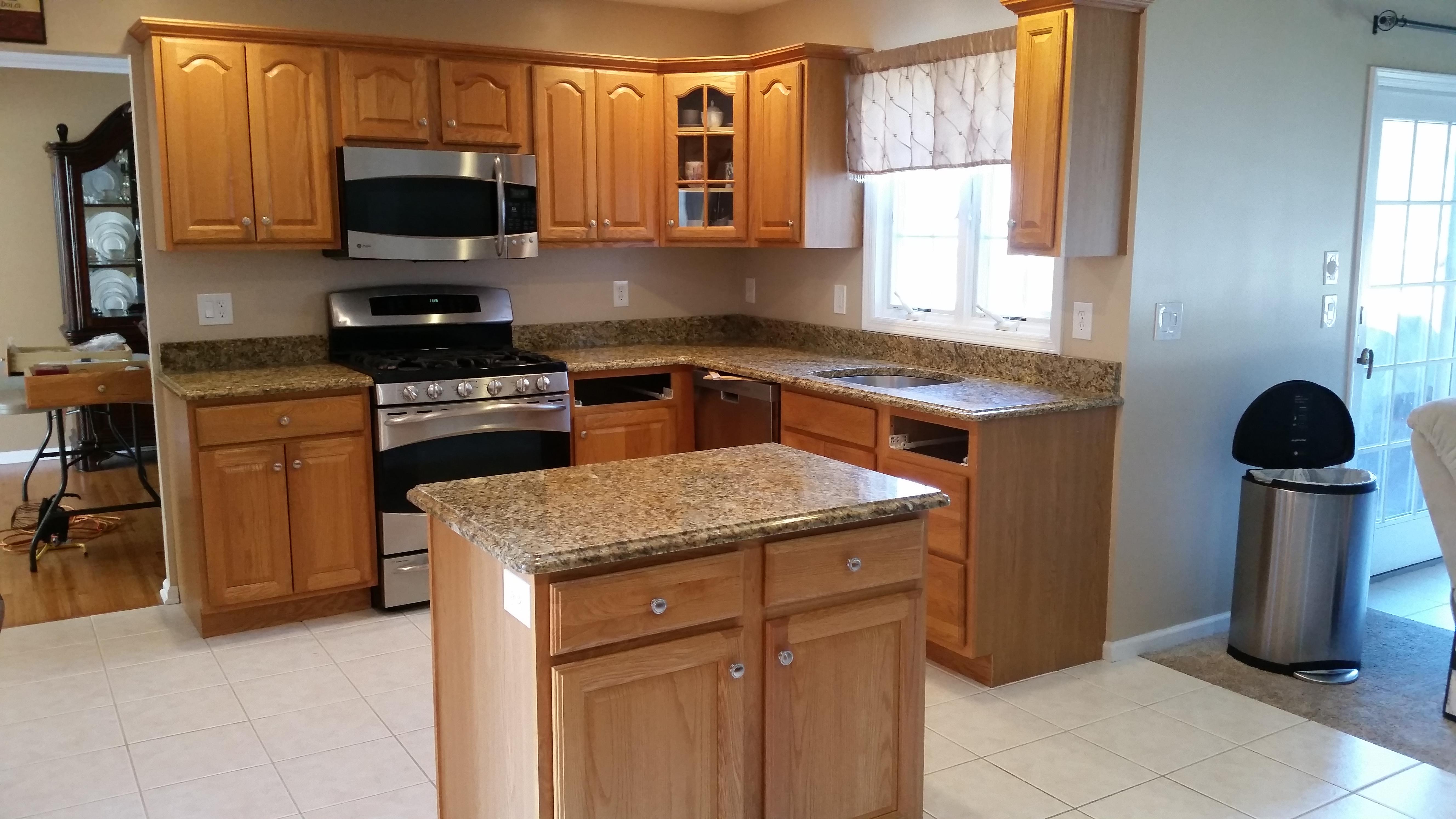 santa cecilia gold granite countertop installation in kitchen and bath design centers kitchen and bath design center orlando