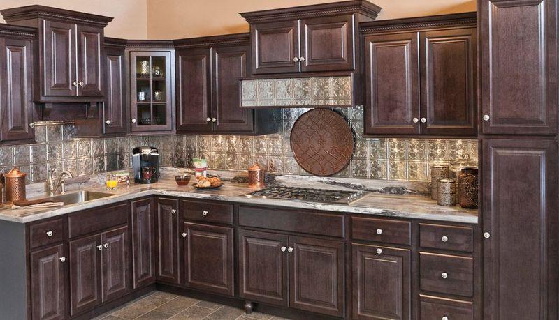 Wolf Saginaw Dark Sable Stain Kitchen, How To Stain Kitchen Cabinets Darker