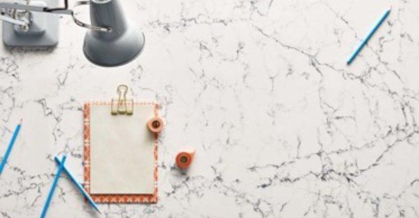 White Attica Quartz Countertop Caesarstone