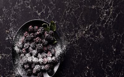Dark Quartz Countertop Colors: Vanilla Noir