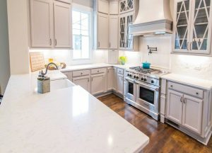 Kitchen cabinets and kitchen countertops Wayne NJ Cashmere Carrara Quartz