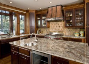 Kitchen cabinets and kitchen countertops Wayne NJ Netuno Bordeaux Granite Countertop Project