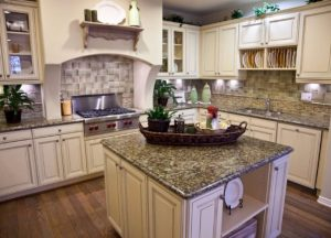 Kitchen cabinets and kitchen countertops Wayne NJ Sanra Cecilia Granite Countertop Project