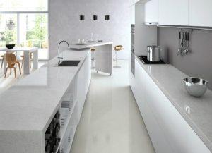 Kitchen Cabinets and Kitchen Countertops Lincoln Park NJ Bianco Drift Quartz Caesarstone