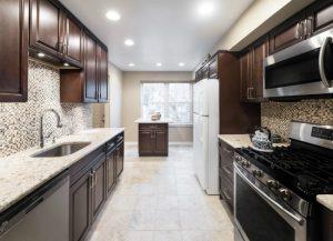 Kitchen Cabinets and Kitchen Countertops Lincoln Park NJ Fabuwood Hallmark Chestnut Kitchen Cabinets