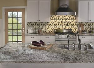Kitchen Cabinets and Kitchen Countertops Lincoln Park NJ Galaxy White Granite Countertop Installation in Clifton NJ