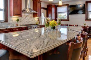 Kitchen Cabinets and Kitchen Countertops Lincoln Park NJ Viscon White Granite Countertop Installation