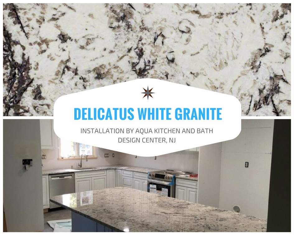 Delicatus White Granite Installation in Pomona, NY