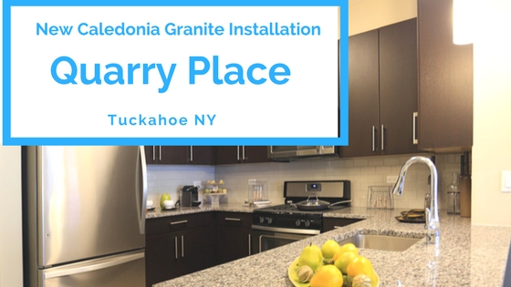 New Caledonia Granite Installation Quarry Place in Tuckahoe NY