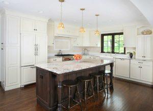 White Spring Granite Kitchen Cabinets and Kitchen Countertops in Totowa NJ