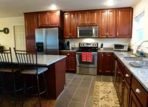Wolf Saginaw Crimson Kitchen Cabinets and Kitchen Countertops in Totowa NJ