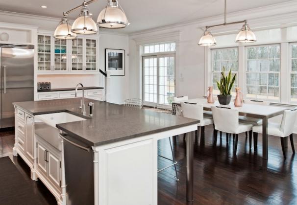 Steel Gray Granite Countertops Design by Pricey Pads