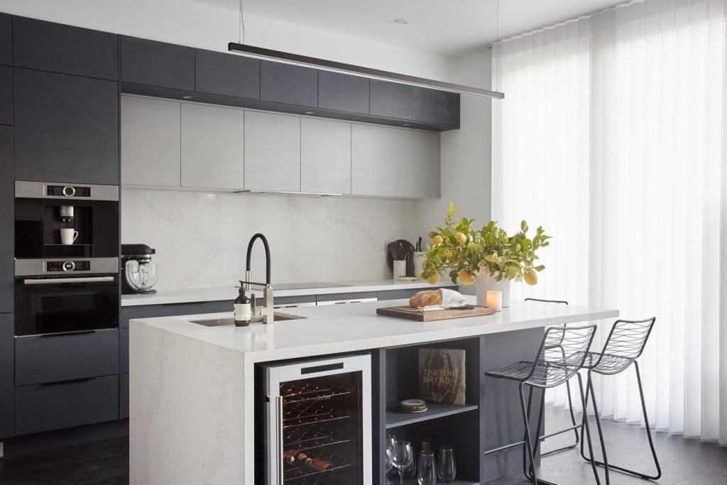 Marble Looking Quartz Calacatta Nuvo Kitchen Design
