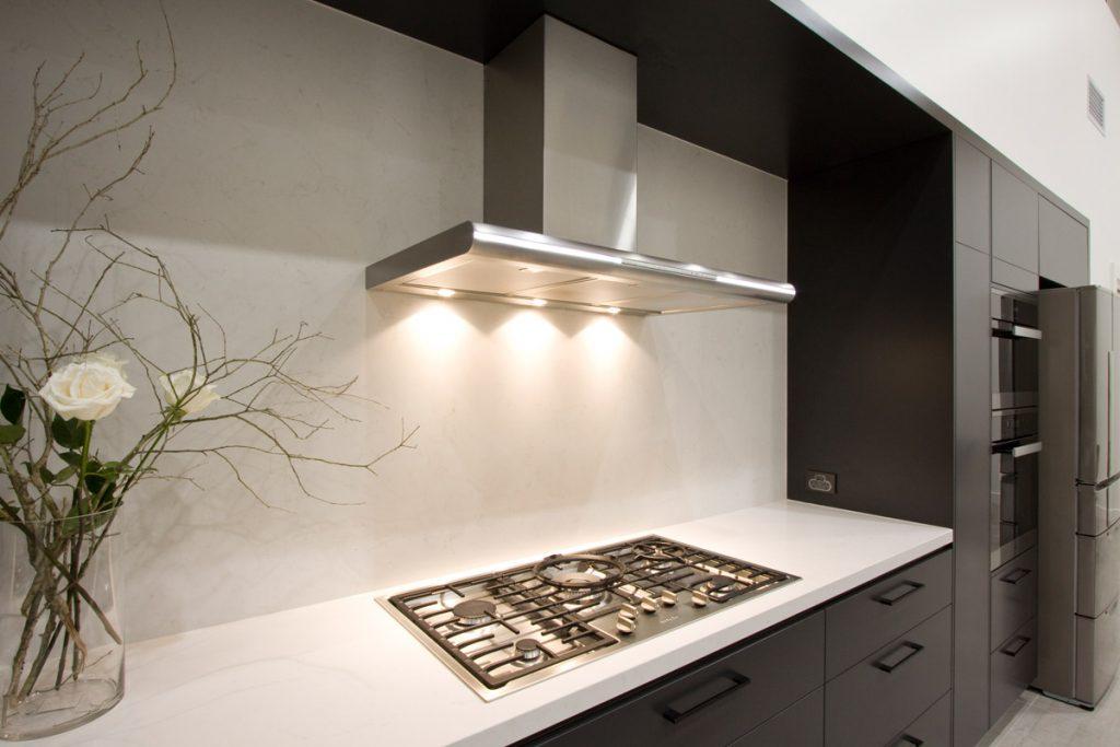 Frosty Carrina Marble Looking Quartz Caesarstone Kitchen Design