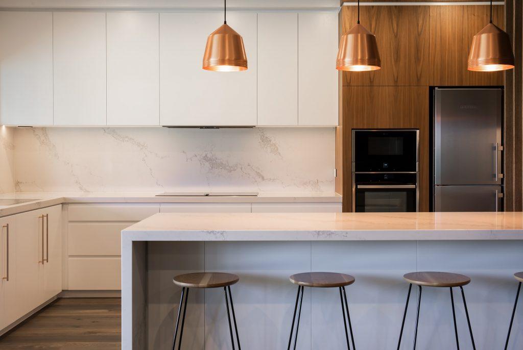 Marble Looking Quartz Statuario Maximus Kitchen Design