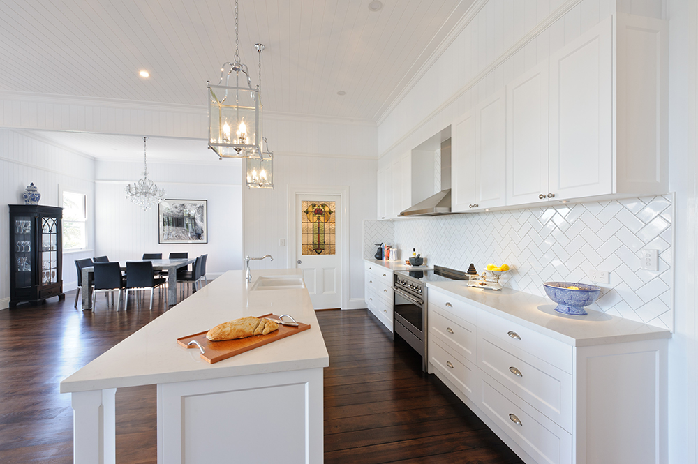 Frosty Carrina Marble Looking Quartz by Caesarstone Kitchen Design