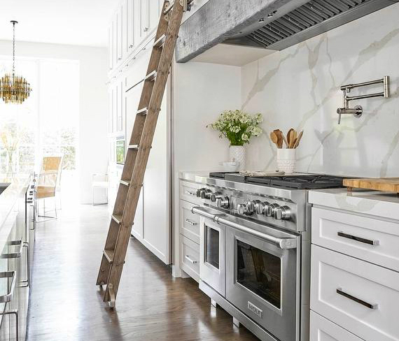 Marble Like Quartz Calacatta Classique Kitchen Design