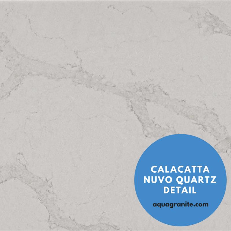 Marble Looking Quartz Caesarstone Countertop_ Calacatta Nuvo Quartz Detail