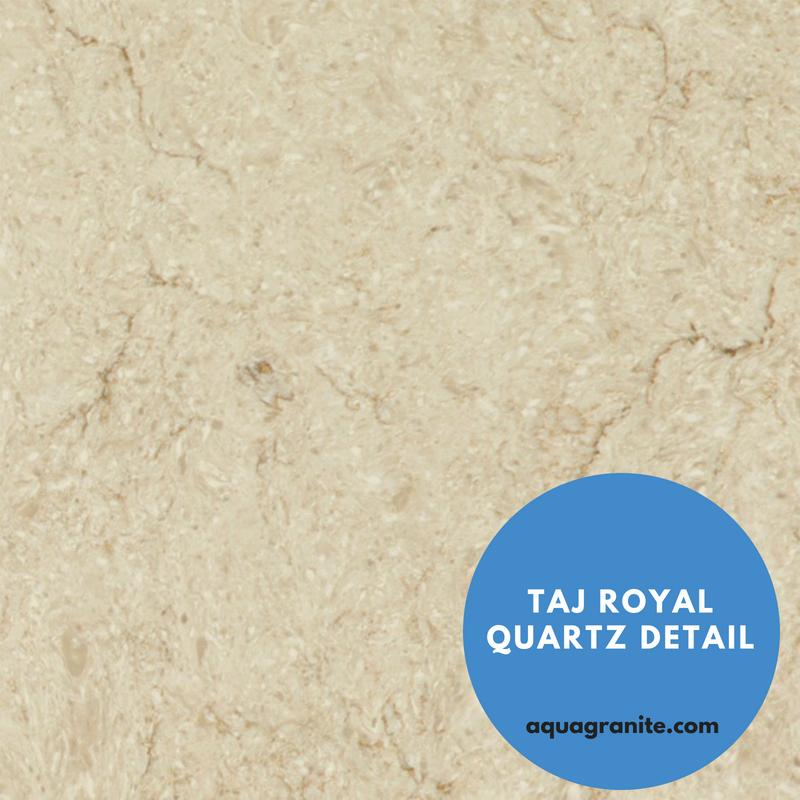 Marble Looking Quartz Caesarstone Countertop: Taj Royal Quartz Detail