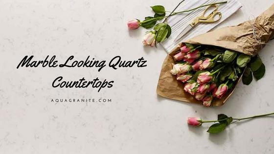 Marble Looking Quartz Countertops by Aqua Kitchen and Bath Design Center Wayne NJ