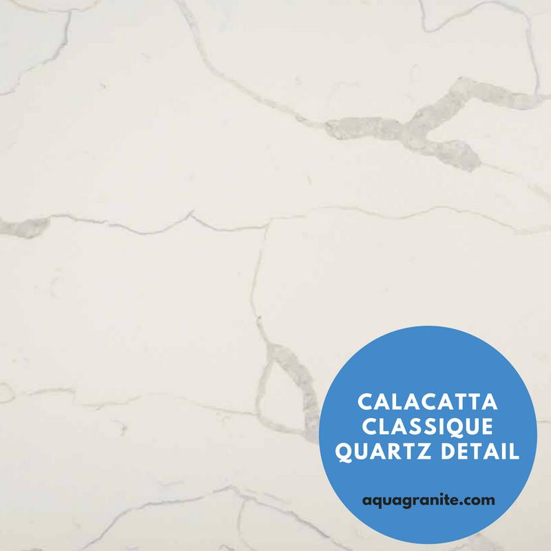 Marble Looking Quartz MSI Countertop: Calacatta Classique Quartz Detail