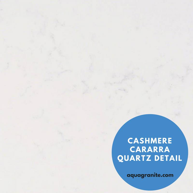 Marble Looking Quartz MSI Countertop_ Cashmere Cararra Quartz Detail