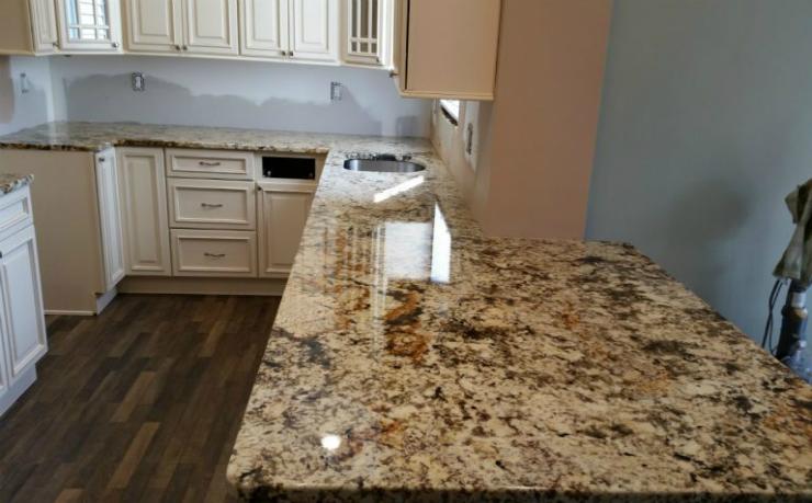 Giallo Fiorito Granite Countertops NJ Project