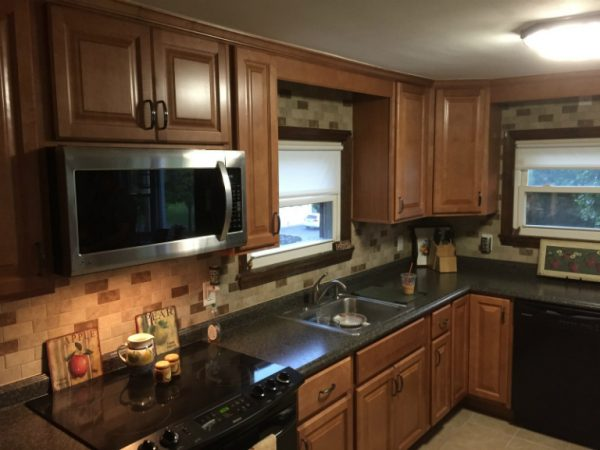 Wolf Saginaw Chestnut Kitchen Cabinets in Pompton Lakes NJ