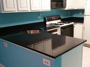 Cedar Grove Kitchen Remodel Shining Blue Quartz Project