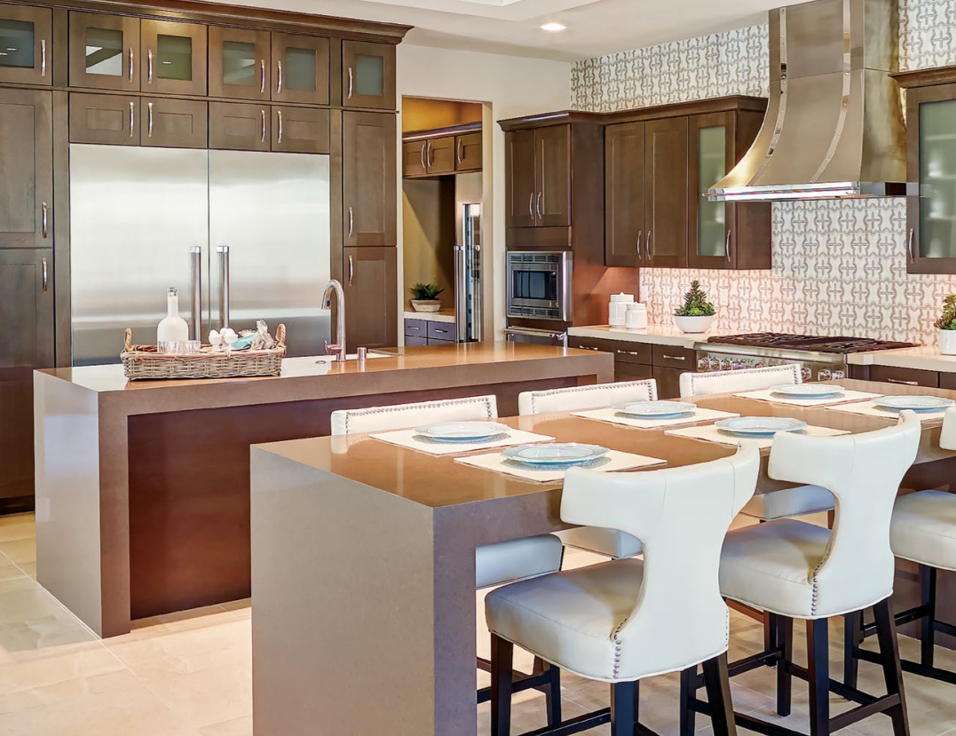 Copenhagen Cherry Slate Custom Kitchen Cabinets by Mid Continent Cabinetry