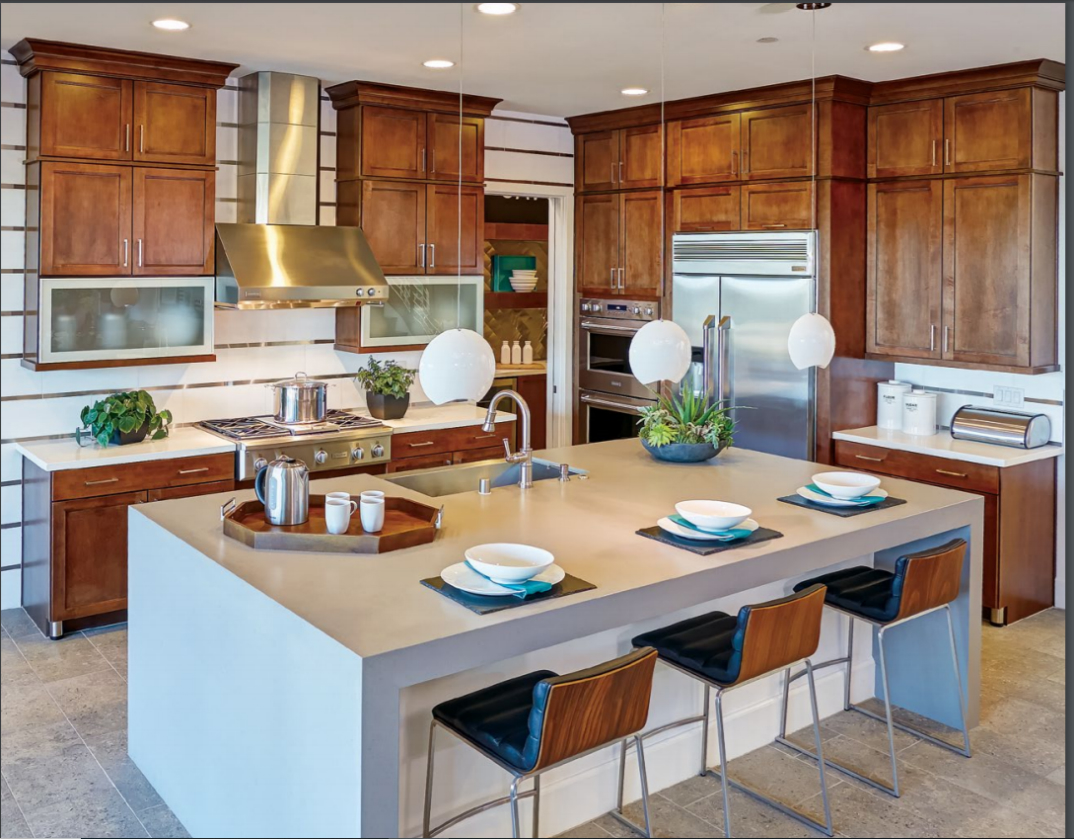 Mission Maple Sundance Custom Kitchen Cabinets with Black Glaze by Mid Continent Cabinetry