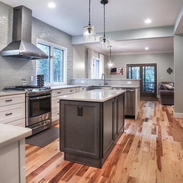 Nova Light Gray Shaker Stock Kitchen Cabinets Design by Forevermark