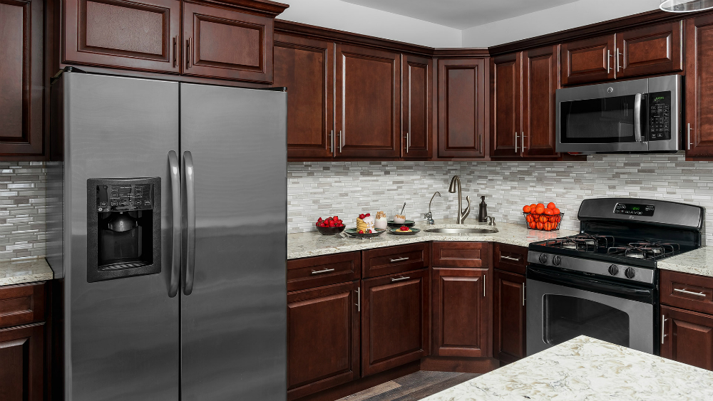 Hallmark Chestnut Stock Kitchen Cabinets from Value Series by Fabuwood
