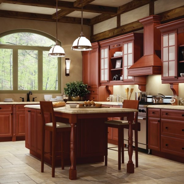 Cinnamon Stock Kitchen Cabinets Design by Forevermark