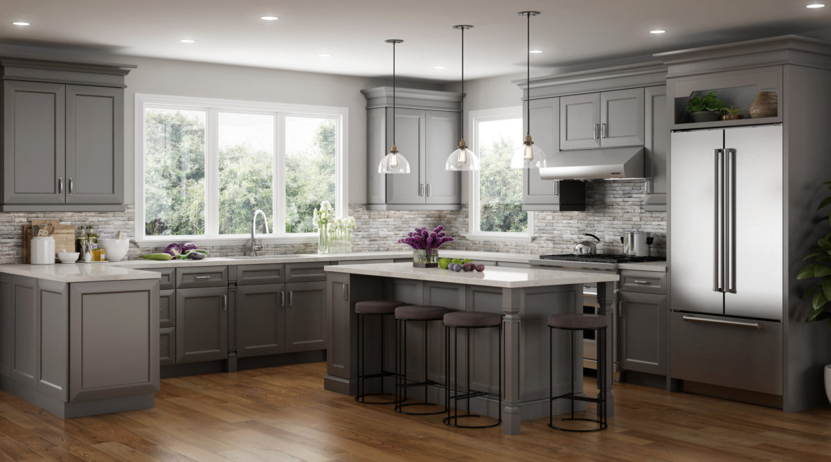 Victoria Dove Stock Kitchen Cabinets Design by CNC