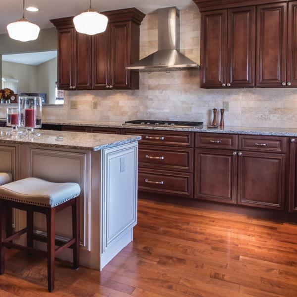 Brownstone Kitchen Cabinets and Signature Pearl Island Design
