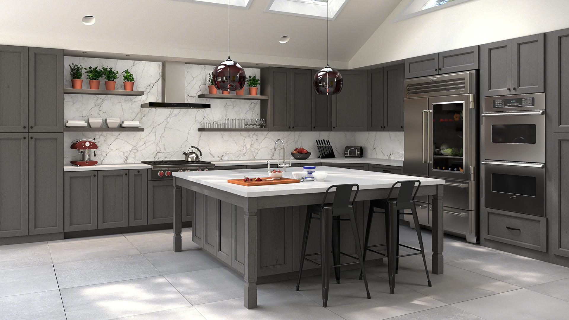 Midtown Gray Forevermark Kitchen Cabinets Design