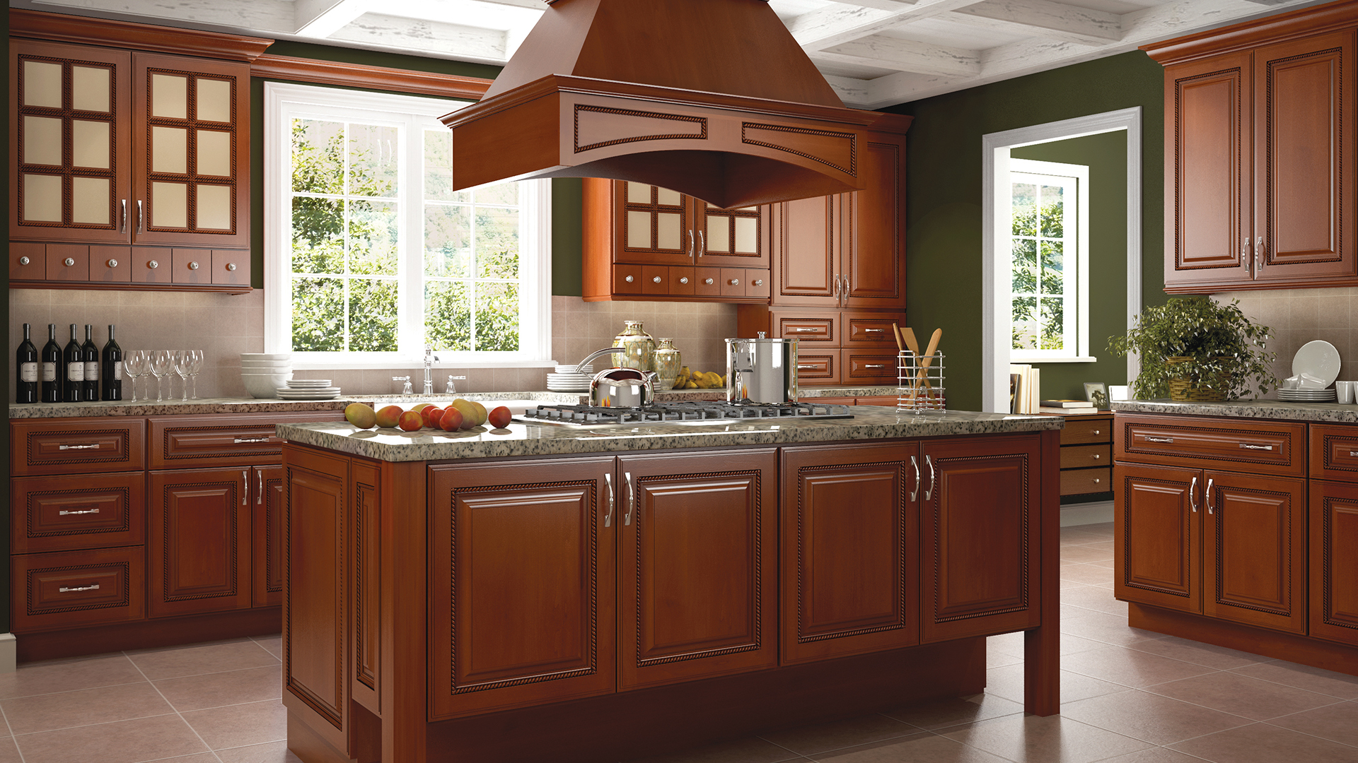Sienna Rope Traditional Kitchen Cabinets
